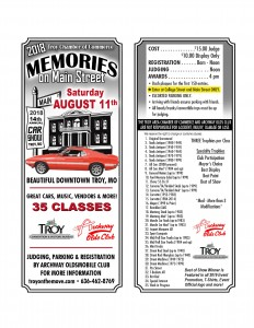 2018 Car Show Flyer Front & Back